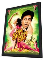 Om Shanti Om - 11 x 17 Movie Poster - Indian Style E - in Deluxe Wood Frame