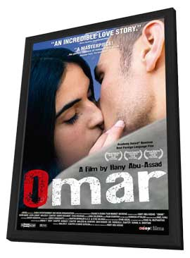 Omar - 11 x 17 Movie Poster - Style A - in Deluxe Wood Frame