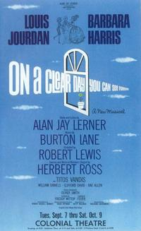 On A Clear Day You Can See Forever (Broadway) - 11 x 17 Poster - Style A