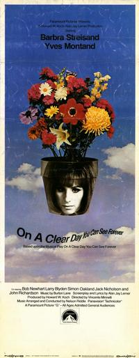 On a Clear Day You Can See Forever - 14 x 36 Movie Poster - Insert Style A