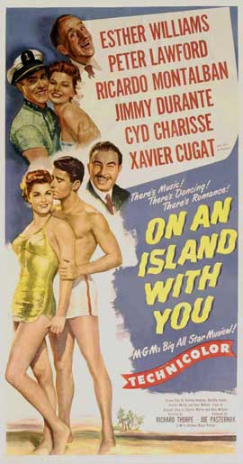 On an Island With You - 14 x 36 Movie Poster - Insert Style A