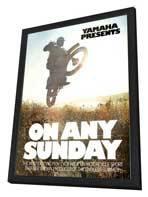 On Any Sunday - 27 x 40 Movie Poster - Style C - in Deluxe Wood Frame