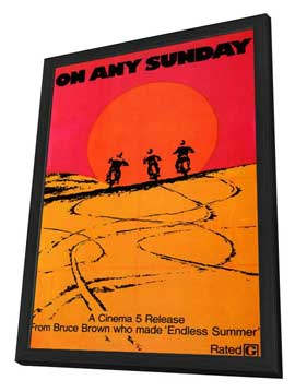 On Any Sunday - 11 x 17 Movie Poster - Style B - in Deluxe Wood Frame