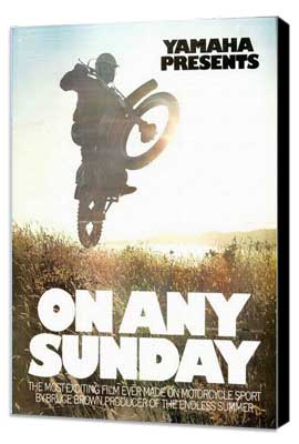 On Any Sunday - 27 x 40 Movie Poster - Style C - Museum Wrapped Canvas