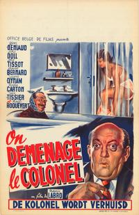 On d�m�nage le colonel - 27 x 40 Movie Poster - Belgian Style A