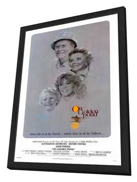 On Golden Pond - 11 x 17 Movie Poster - Style A - in Deluxe Wood Frame