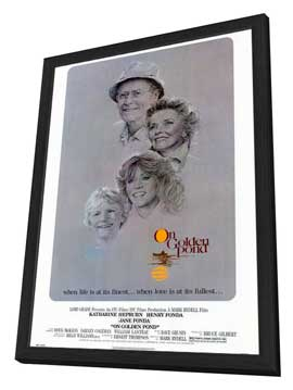 On Golden Pond - 27 x 40 Movie Poster - Style A - in Deluxe Wood Frame