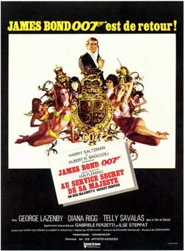 On Her Majesty's Secret Service - 11 x 17 Movie Poster - French Style A