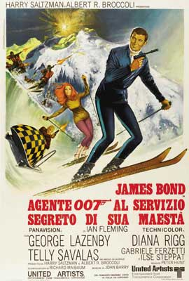 On Her Majesty's Secret Service - 27 x 40 Movie Poster - Italian Style B