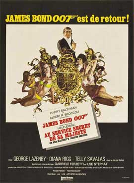 On Her Majesty's Secret Service - 27 x 40 Movie Poster - French Style B