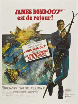 On Her Majesty's Secret Service - 27 x 40 Movie Poster - French Style C