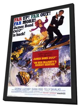 On Her Majesty's Secret Service - 11 x 17 Movie Poster - Style B - in Deluxe Wood Frame