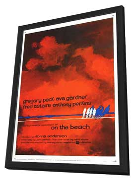 On the Beach - 27 x 40 Movie Poster - Style C - in Deluxe Wood Frame