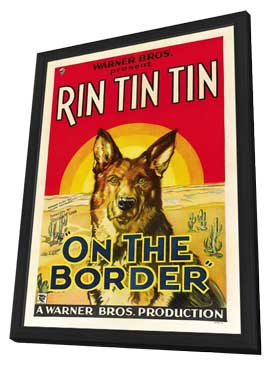 On the Border - 27 x 40 Movie Poster - Style A - in Deluxe Wood Frame