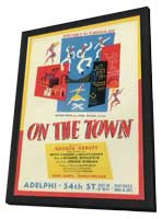 On The Town (Broadway) - 11 x 17 Poster - Style A - in Deluxe Wood Frame