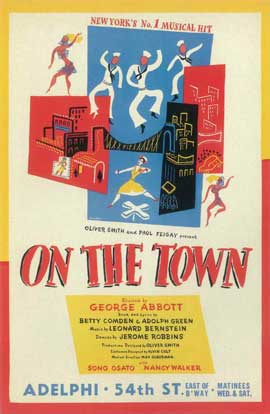 On The Town (Broadway) - 11 x 17 Poster - Style A