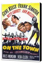 On the Town - 11 x 17 Movie Poster - Style A - Museum Wrapped Canvas