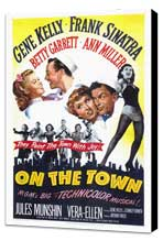 On the Town - 27 x 40 Movie Poster - Style A - Museum Wrapped Canvas