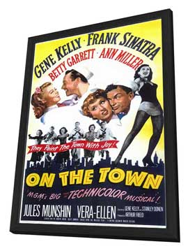On the Town - 11 x 17 Movie Poster - Style A - in Deluxe Wood Frame