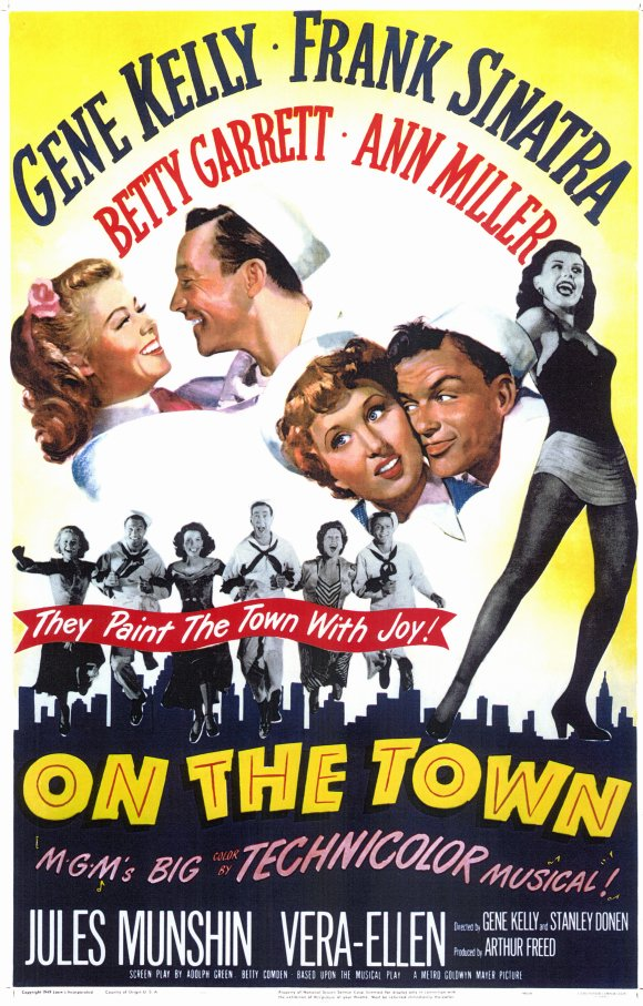 On the town movie posters from movie poster shop for New york new york on the town