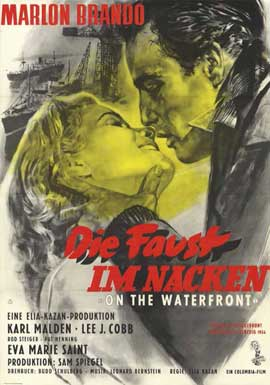 On the Waterfront - 11 x 17 Movie Poster - German Style A