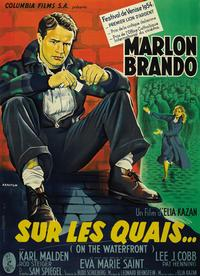 On the Waterfront - 43 x 62 Movie Poster - French Style B