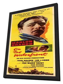 On the Waterfront - 14 x 36 Movie Poster - Insert Style A - in Deluxe Wood Frame
