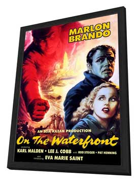 On the Waterfront - 27 x 40 Movie Poster - Style E - in Deluxe Wood Frame