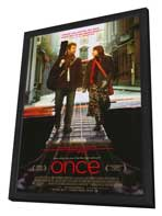 Once - 11 x 17 Movie Poster - Style A - in Deluxe Wood Frame