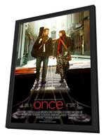 Once - 11 x 17 Movie Poster - Style B - in Deluxe Wood Frame