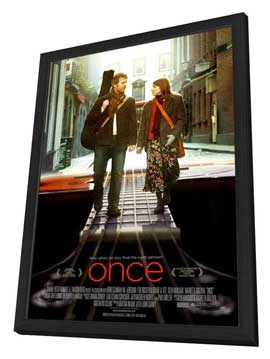 Once - 27 x 40 Movie Poster - Style B - in Deluxe Wood Frame