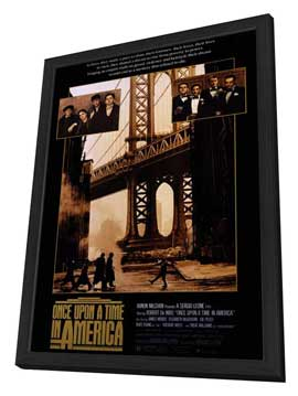 Once Upon a Time in America - 27 x 40 Movie Poster - Style A - in Deluxe Wood Frame