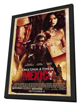 Once Upon a Time in Mexico - 27 x 40 Movie Poster - Style A - in Deluxe Wood Frame