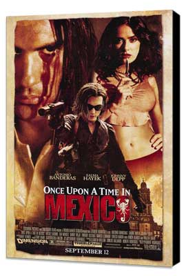Once Upon a Time in Mexico - 27 x 40 Movie Poster - Style A - Museum Wrapped Canvas