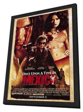 Once Upon a Time in Mexico - 11 x 17 Movie Poster - Style A - in Deluxe Wood Frame