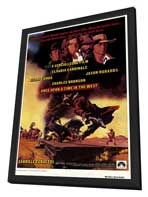 Once Upon a Time in the West - 27 x 40 Movie Poster - Style A - in Deluxe Wood Frame