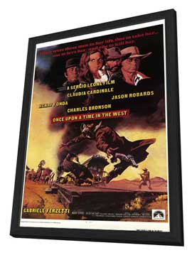 Once Upon a Time in the West - 11 x 17 Movie Poster - Style A - in Deluxe Wood Frame