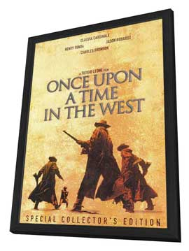 Once Upon a Time in the West - 11 x 17 Movie Poster - Style B - in Deluxe Wood Frame
