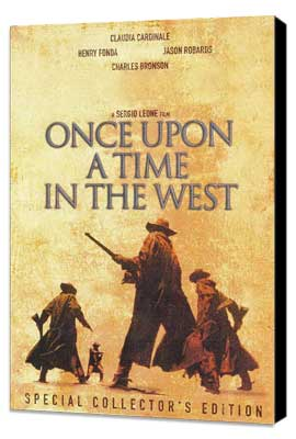 Once Upon a Time in the West - 27 x 40 Movie Poster - Style B - Museum Wrapped Canvas