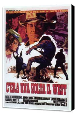 Once Upon a Time in the West - 27 x 40 Movie Poster - Italian Style C - Museum Wrapped Canvas