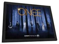 Once Upon a Time (TV) - 11 x 17 TV Poster - Style G - in Deluxe Wood Frame