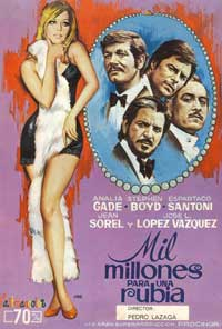 One Billion for a Blonde - 11 x 17 Movie Poster - Spanish Style A