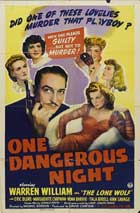 One Dangerous Night - 11 x 17 Movie Poster - Style A