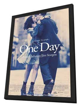 One Day - 11 x 17 Movie Poster - Style A - in Deluxe Wood Frame