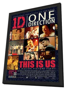 One Direction - 11 x 17 Movie Poster - Style A - in Deluxe Wood Frame