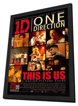 One Direction - 27 x 40 Movie Poster - Style A - in Deluxe Wood Frame