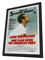 One Flew Over the Cuckoo's Nest - 11 x 17 Movie Poster - Style I - in Deluxe Wood Frame