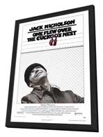 One Flew Over the Cuckoo's Nest - 27 x 40 Movie Poster - Style A - in Deluxe Wood Frame