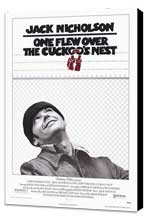 One Flew Over the Cuckoo's Nest - 11 x 17 Movie Poster - Style A - Museum Wrapped Canvas