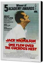 One Flew Over the Cuckoo's Nest - 11 x 17 Movie Poster - Style I - Museum Wrapped Canvas